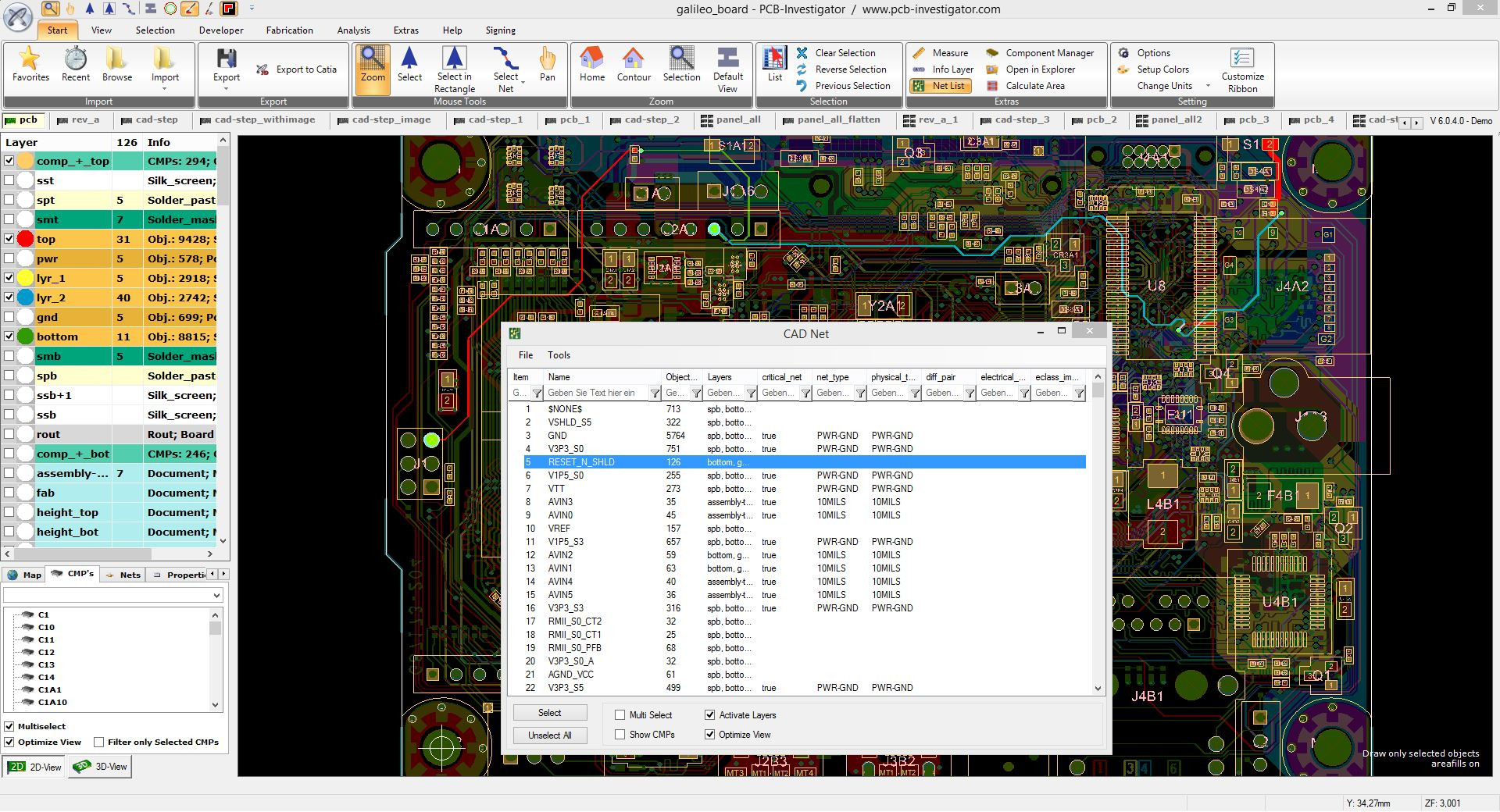 How to use CAD Net List | PCB-Investigator
